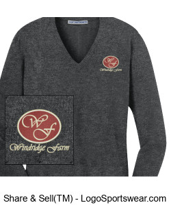Port Authority Ladies V-Neck Sweater Design Zoom