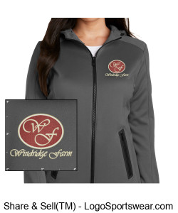 New Era Ladies Venue Fleece Full-Zip Hoodie Design Zoom